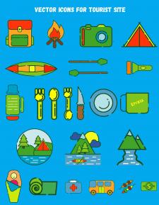 Набор иконок и иллюстраций для сайта