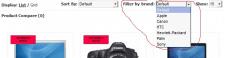 Opencart: Фильтр товаров по брендам