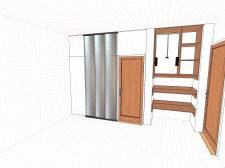 Встроенный шкаф. с пантографом