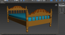 "Wooden bed ""Glory"""