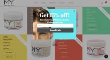 Shopify магазин мужских гелей для волос