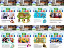 Оформление вкладок страницы детского центра