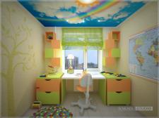 """Детская комната. Дизайн-студия интерьера """"Какаду""""."""