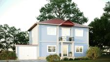 Визуализация фасада частного дома