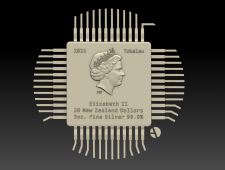 3д-барельеф королевы Елизаветы2 QueenElizabeth II