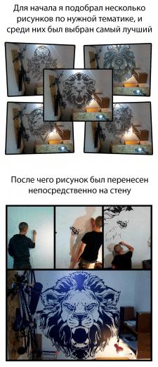 Дизайн рисунка на стене