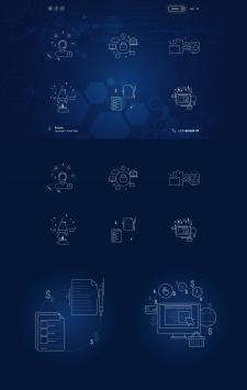 Усложненные иконоки для страницы сайта