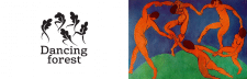 Вариант логотипа для компании Dancing Forest
