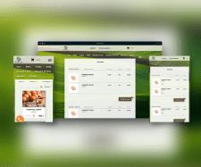 Адаптивный дизайн магазин фермерских товаров
