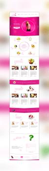 Яркий дизайн сайта Фитнес клуба (вариант 1)