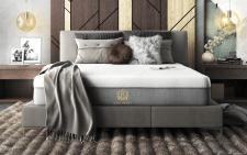 3д рендер и визуализация спальни с матрасом