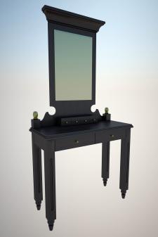 3д модель будуарного столика для интернет магазина