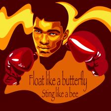 Портрет боксера Мухаммеда Алі