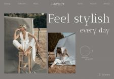 """Первый экран - магазин одежды """"Lavender"""""""