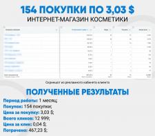 154 покупки по 3,04 $ / Интернет-магазин косметики