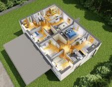 3D планировка дома_2 этаж