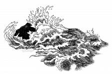 Волны, ручная графика