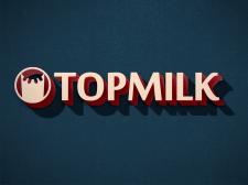 Прототип логотипа для молочной фирмы