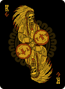 Spielkarten Indians- Skelette10