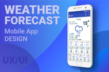 Weather Forecast (Simple Mobile App Design) UX/UI