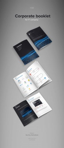 Corporate booklet for IT company