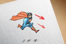 "2D персоонаж ""Супергерой"""
