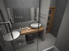 Дизайн санузла в 3к квартире