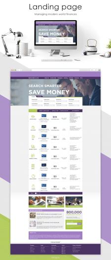 """Landing Page """"Managing modern world finances"""""""