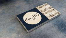 Corelli`s cafe, визитка для кафе / Business card