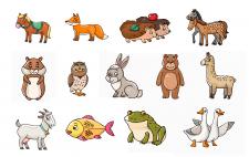 Векторные животные