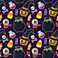 Иллюстрация: хэллоуинская бесшовная текстура.
