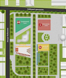 Схема парка для фестиваля