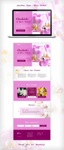 """Landing Page """"Your Orchid"""""""