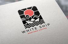 """Логотип для кофейни """"White Ship"""""""
