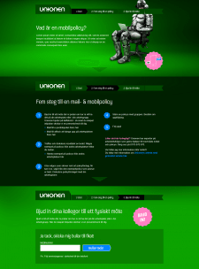 Unionen, Landing Page