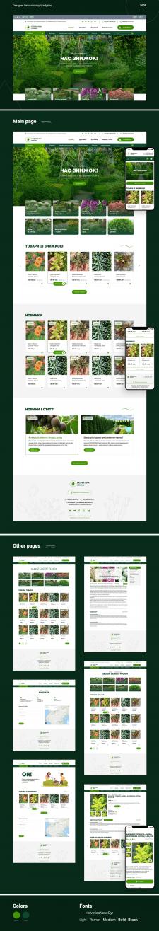 Дизайн интернет-магазина (Figma)