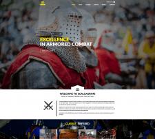 Scallagrims.com - разработка веб сайта