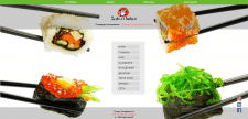 Главная страница сайта для суши-бара
