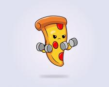 Иконка спортивная еда в векторном стиле