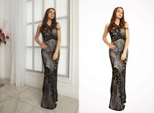 Обтравка изображения для магазина платьев