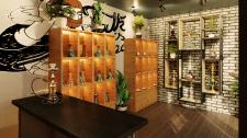 Интерьер кальянного магазина