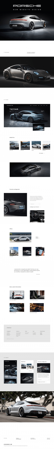 Porsche - car manufacturer website redesign