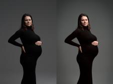 Цветокоррекция и ретушь беременности
