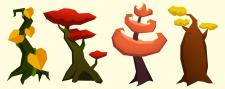 Наброски деревьев для игры