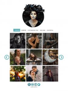 Сайт галерея для фотографа