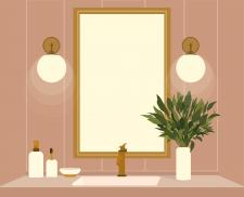 Иллюстрация на тему ванная