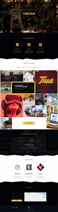 Создание сайта студии. Дизайн и разработка.