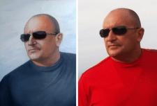 Портрет по  фотографии (маслом на холсте)