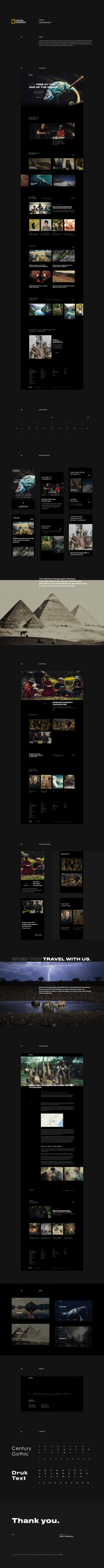 National Geographic - redesign website