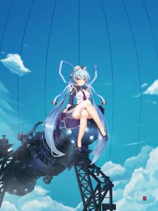 Anime арт с фоном